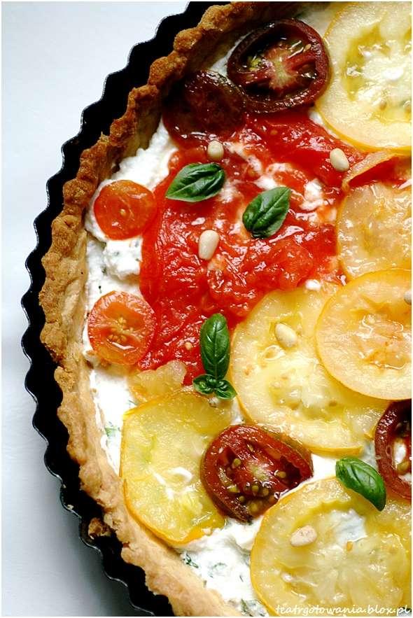 amore pomidore tarta ser kozi pomidory bazylia pini