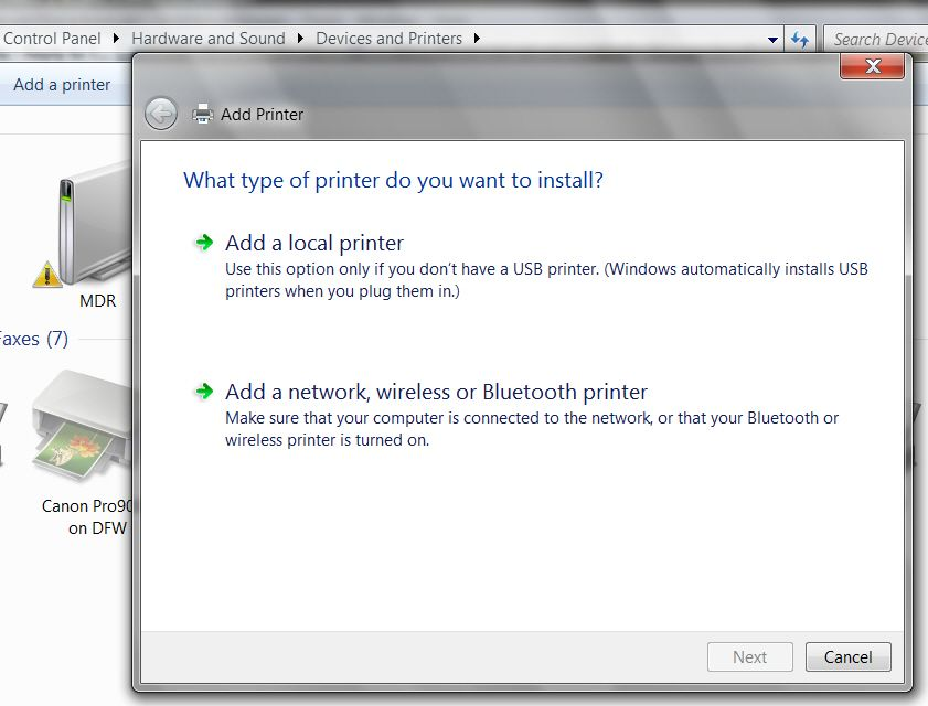 how to connect my printer to my network