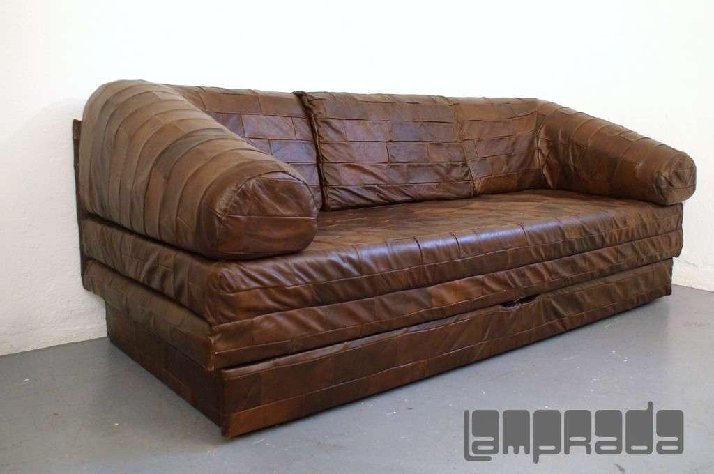 patchwork ledersofa sofa daybed ausklappbar z doppelbett. Black Bedroom Furniture Sets. Home Design Ideas