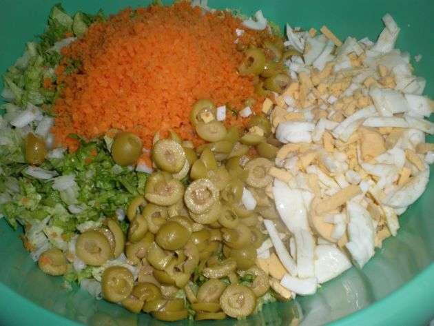 Espirales con verdura